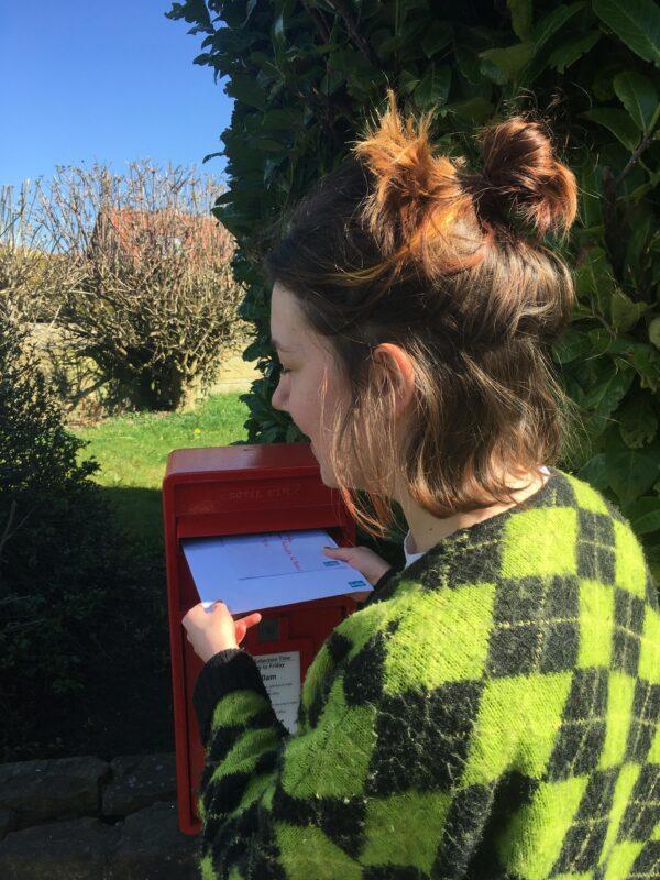 Support Worker Nancy Sending Letters To Members