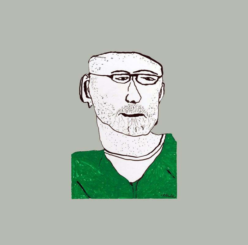 Illustration of Dave Milne by Headway artist