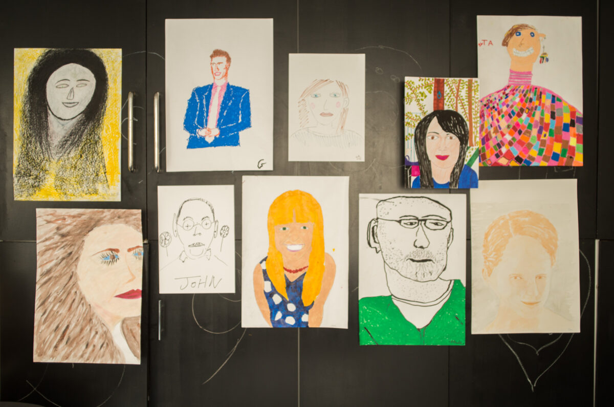 Selection of staff illustrations drawn by members