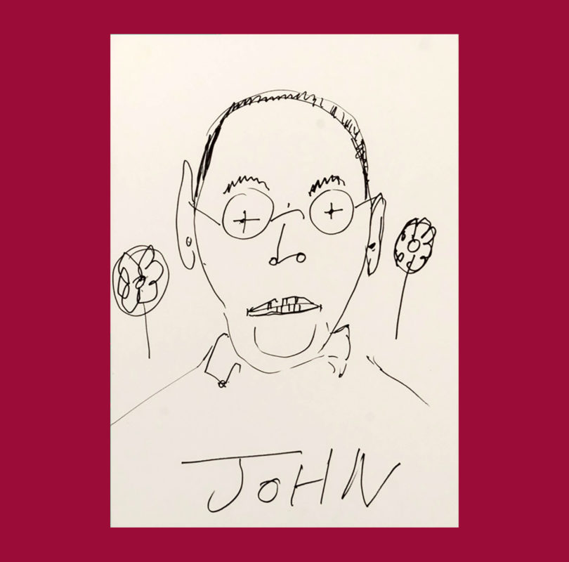 Illustration of John Comninos by Headway artist