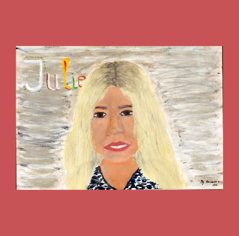 Illustration of Julie Woodward by Headway artist
