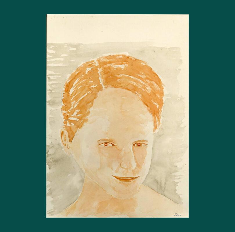 Illustration of Katharine Hibbert by Headway artist