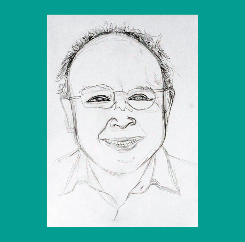 Illustration of Norman Keen by Headway artist